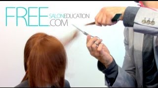 CUTTING A SIDE BANG - EASY DRY HAIRCUT - FACE FRAME HAIRCUT