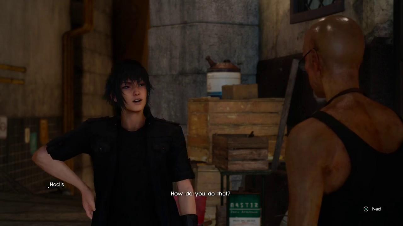 Final Fantasy 15 Get Legendary Weapon in Lestallum from Randolph Blacksmith