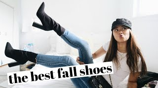 5 FALL SHOES YOU NEED + outfits! | rachspeed