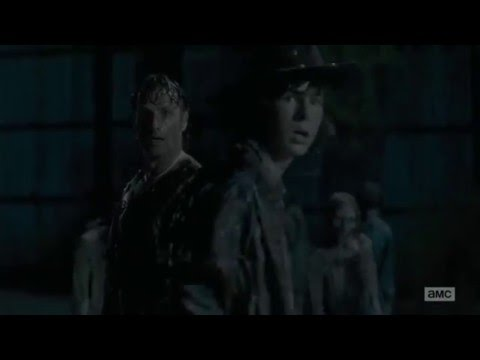 The Walking Dead | Carl Gets Shot in the eye Scene | No way out
