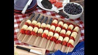 How To Make Usa Flag Kabobs Fruit Arrangement | Radacutlery.com
