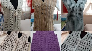 Yeni Nesil Gelin Yelekleri 😍Hayran Kalacağınız Tığ Oyası çeyizlik Yelek Modeli Ve Desenleri #crochet