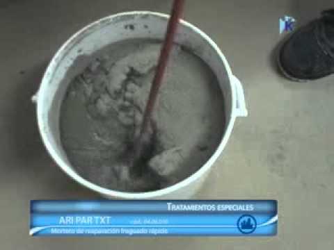 Kimsa ari repar txt mortero de reparacion fraguado for Mortero sin retraccion