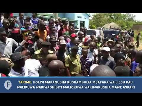 Download Tarime - Rorya: Polisi Wakanusha kupiga Mabomu ya Machozi Msafara wa Tundu Lissu