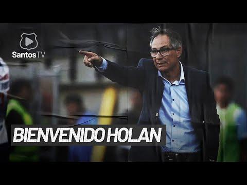 A PRIMEIRA ENTREVISTA DE ARIEL HOLAN COMO TÉCNICO DO SANTOS!