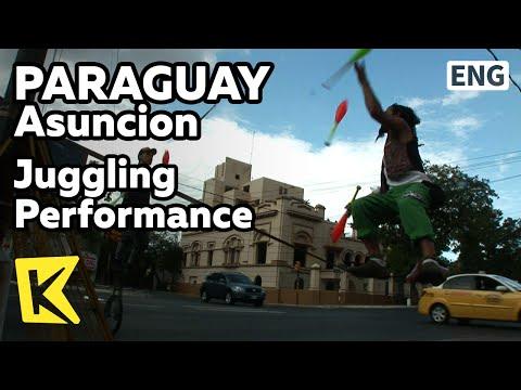 【K】Paraguay Travel-Asuncion[파라과이 여행-아순시온]도로 위 저글링 공연단/Juggling Performance