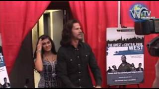 Lorenzo Lamas and new Girlfriend arrive at The Guest at Central Park West Premiere
