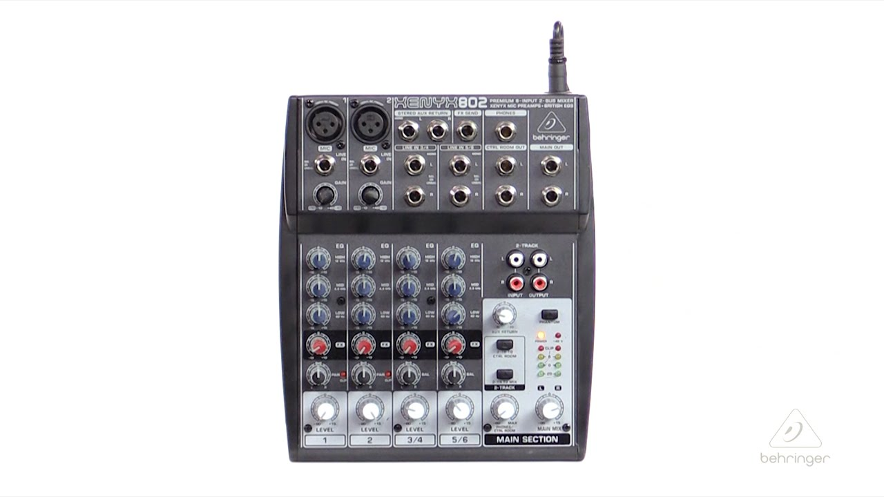 Xenyx 802 Premium 8 Input 2 Bus Mixer With Mic Preamps And Band Preamplifier British Eqs Youtube