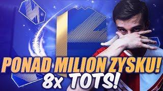 CO ZA TRAF! 8x TOTS - PONAD MILION ZYSKU! NAGRODY ZA TOP 100 FUT CHAMPIONS! FIFA 18