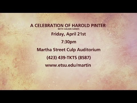 A Celebration Of Harold Pinter With Julian Sands