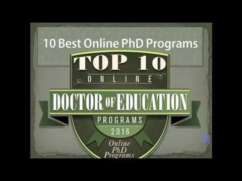 10 Best Online PhD Programs for 2016 | OEDb.org