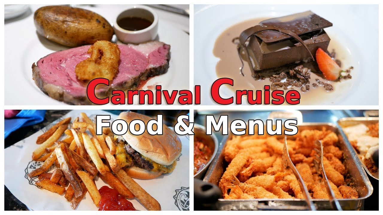 Carnival Cruise Food Overview & Menus (4K)