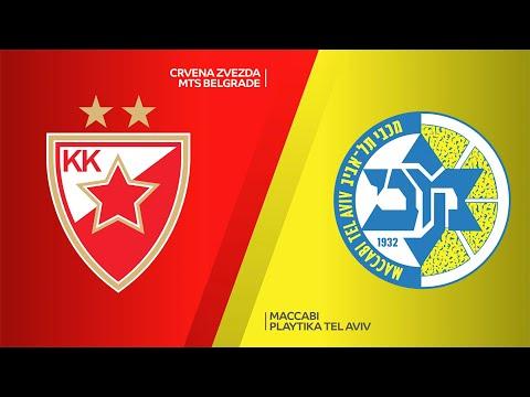 Crvena Zvezda mts Belgrade - Maccabi Playtika Tel Aviv Highlights | EuroLeague, RS Round 33