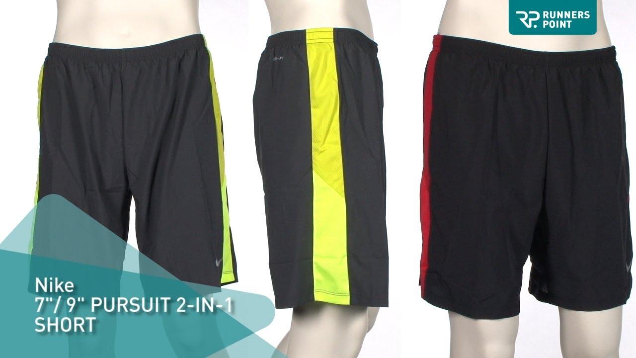 Nike Mens 7 Pulgadas De Persecución 2-en-1 Pantalones Cortos En Español