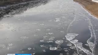 Эффектное зрелище: в Оренбурге на Урале - осенний ледоход