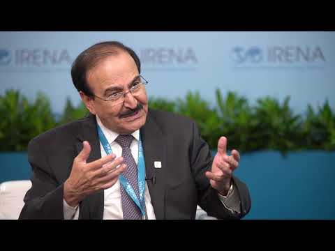 Bahrain Energy Minister Abdul Hussein Bin Ali Mirza, at IRENA 9A