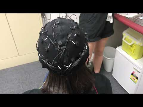 EEG cap fitting and EEG recording