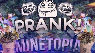 STOPPEN MET MINETOPIA STAFF! PRANK [ LEUKE REACTIE ]