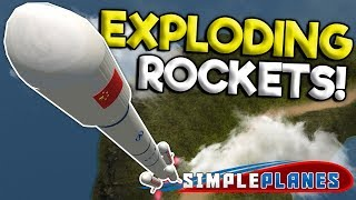 EXPLODING ROCKETS & AWESOME BOMBER! - Simple Planes Creations Gameplay - Best Creations