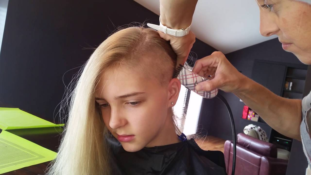 Girl shaves one side of her hair youtube for A little off the top salon