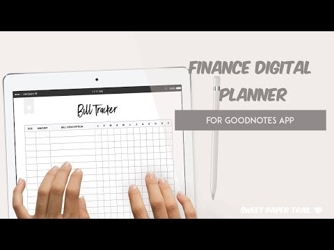 Finance Planner for IPad - GoodNotes App