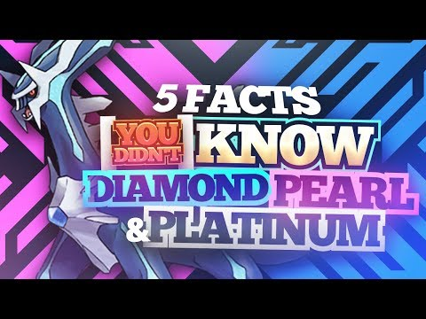 5 Facts You Didn't Know About Pokemon Diamond, Pearl, and Platinum