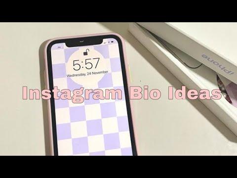 20 instagram bio ideas // aesthetic 2020