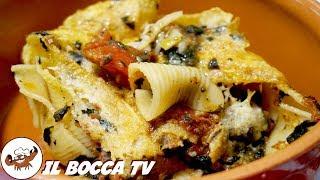 528 - Conchiglioni al forno con cavolo nero e alici..vanno bene anche i pici(pasta al forno gustosa)