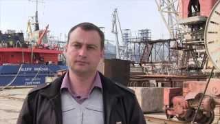 Yuqori sifatli kema ta'mirlash imkonsiz bo'lishi uchun daxshatli holatda Sevastopol shahrida Shipyard,