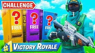 Download WINNING using *ONLY* VENDING MACHINES Challenge in Fortnite! Mp3 and Videos