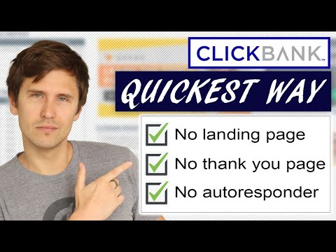 Quickest Way to Make Money Online With ClickBank (Step-By-Step Tutorial)