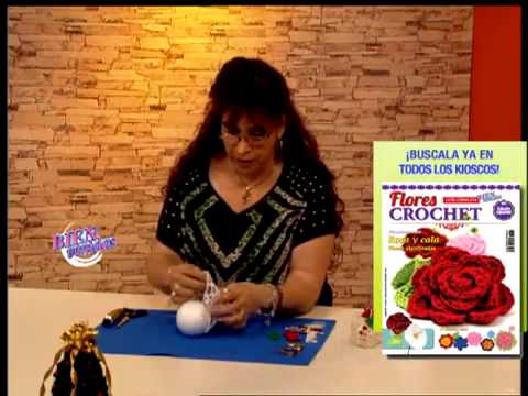 M nica astudillo adornos tejidos al crochet youtube for Adornos navidenos tejidos a crochet 2016