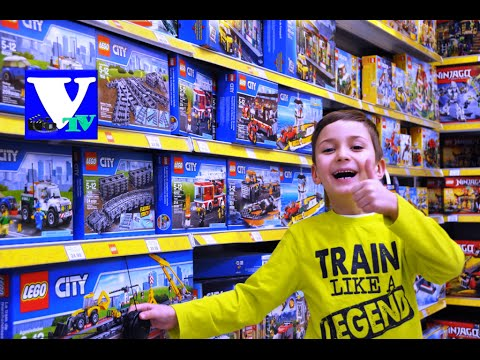 ★ VLOG Магазин игрушек: ЛЕГО СИТИ огромные конструкторы! LEGO CITY 2016 shopping