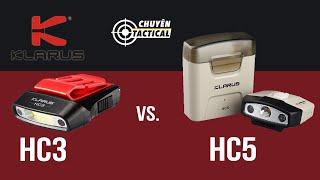 [Review] ĐÈN PIN CÀI NÓN KLARUS HC3 và HC5 - Cảm biến tiệm cận | Case sạc rời  - Chuyentactical.com