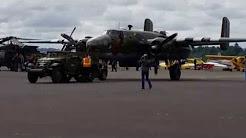 Halftrack airport tug to B-25