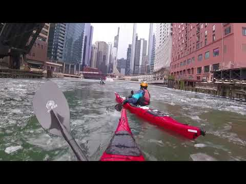 Kayaking In Chicago - Ice Paddle 2018