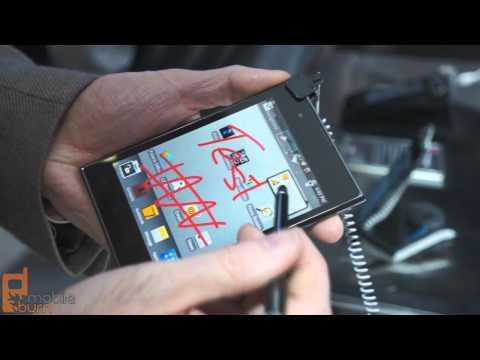 LG Optimus Vu smartphone/tablet hybrid video demo