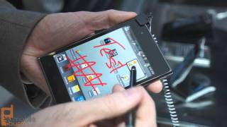 LG Optimus Vu smartphone/tablet hybrid video demo