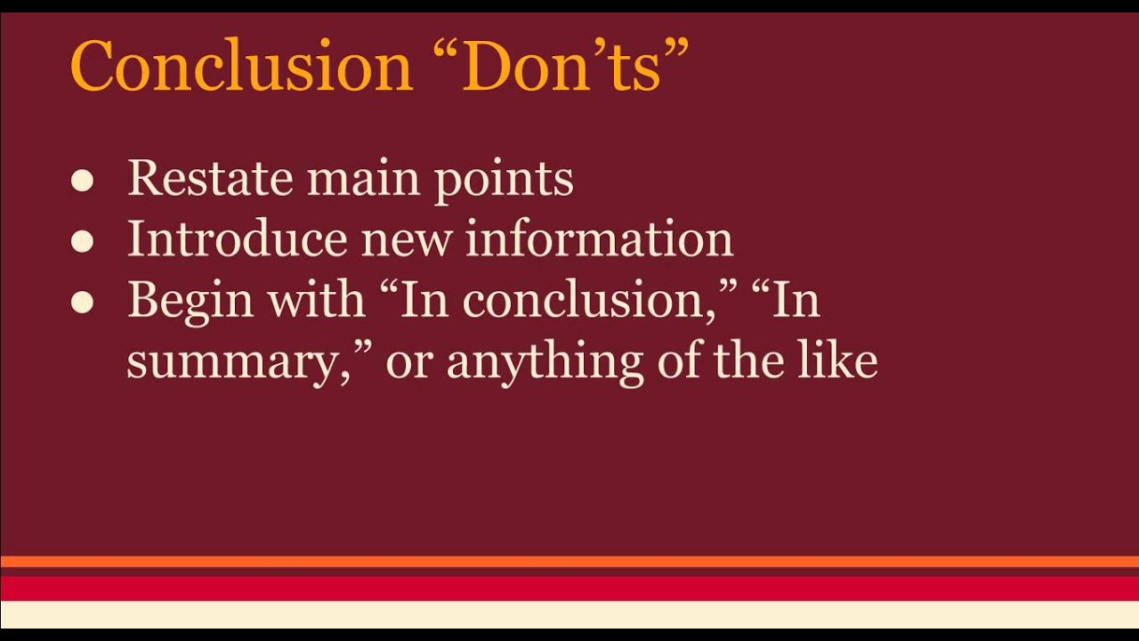 how to create a conclusion for an essay