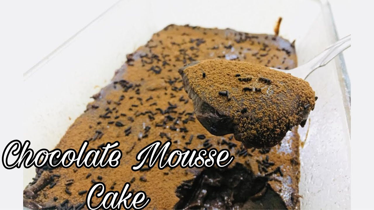 Easiest Chocolate Mousse Cake with only 3 Ingredients | No ...