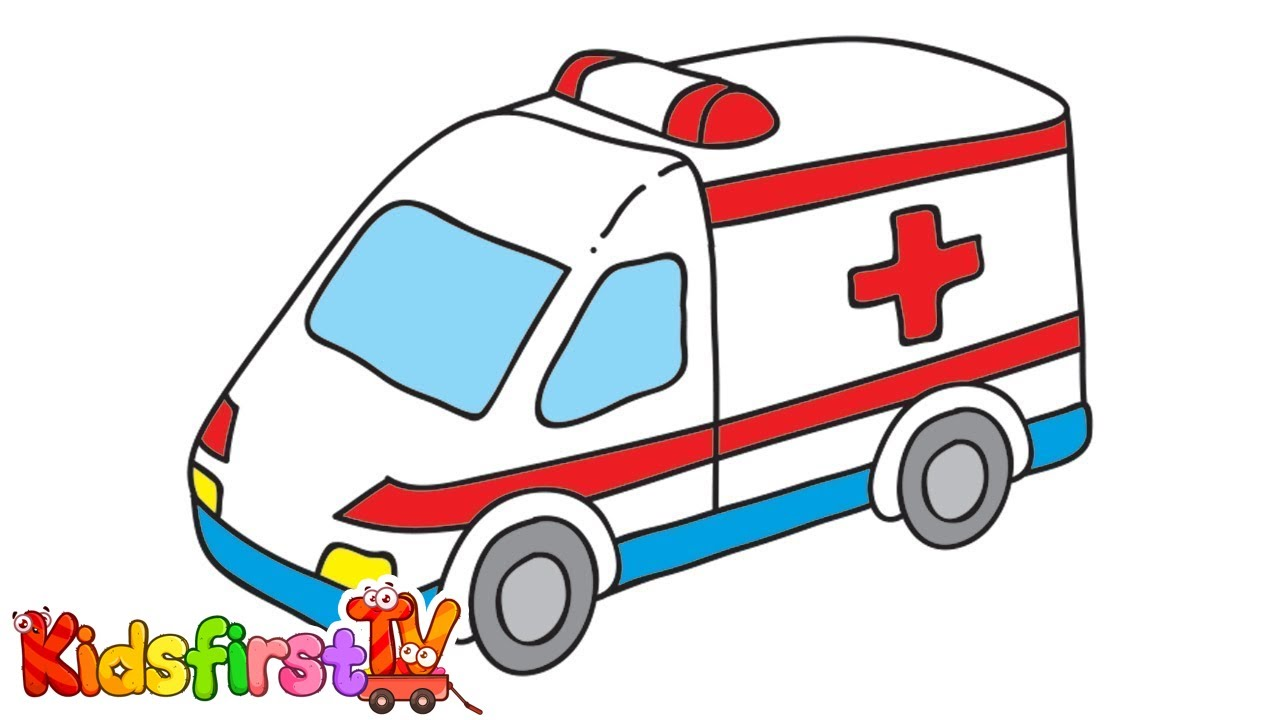 ambulance fire truck - Ambulance Pictures To Colour