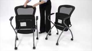 Mesh Back Nesting Chair | Office Star | National Business Furniture