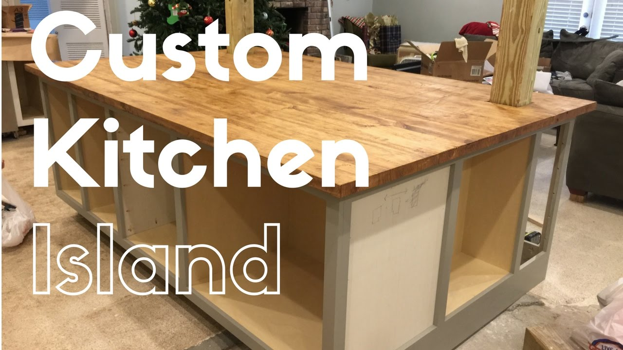 Custom Kitchen Islands Light Island Build Youtube