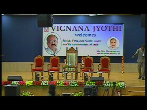 Honorable Vice-President Sri Venkaiah Naidu at VNRVJIET HYD Live Streaming