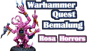 Warhammer Quest Silver Tower Bemalung Rosa Horror Miniaturen für Anfänger und Fortgeschrittene