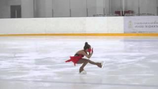 Катрин Никольская. Фигурное катание. 2 юношеский разряд. Второе место