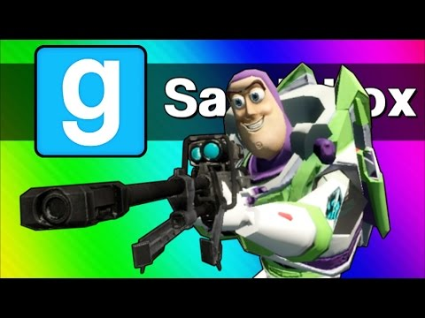 Gmod Sandbox Funny Moments - Sniper Battle, Ninja Vanish, C4 Cocoon! (Garry's Mod)