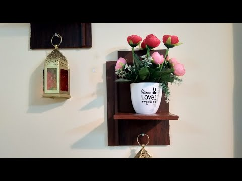DIY Zero Budget Wall Hanging Shelf Making at Home For Home Deco|How To Make a wooden Shelf at Home .