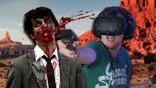 SURVIVING A ZOMBIE APOCALYPSE IN VR! | Arizona Sunshine BETA #1 (HTC Vive Virtual Reality #16)