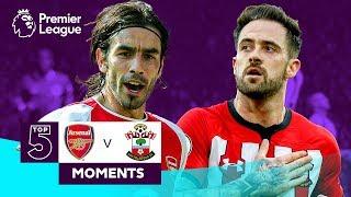 Arsenal v Southampton | Top 5 Premier League Moments | Pires, Ings, Henry